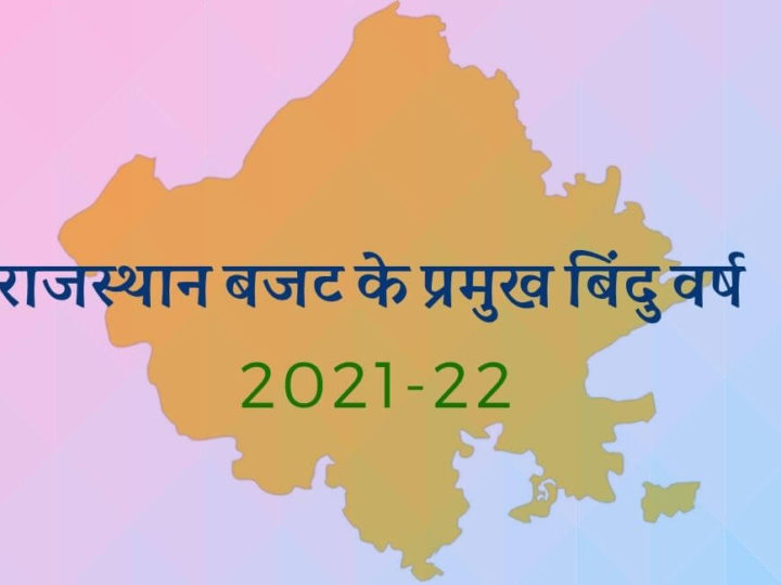 राजस्थान बजट के प्रमुख बिंदु वर्ष 2021-22