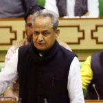 Ashok Gehlot in Vidhan Sabha