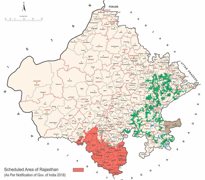 राजस्थान के अनुसूचित क्षेत्र