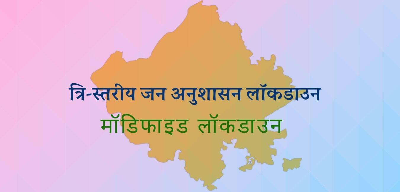 राजस्थान त्रिस्तरीय मॉडिफाइड लॉकडाउन जून 2021 नए दिशा-निर्देश जारी