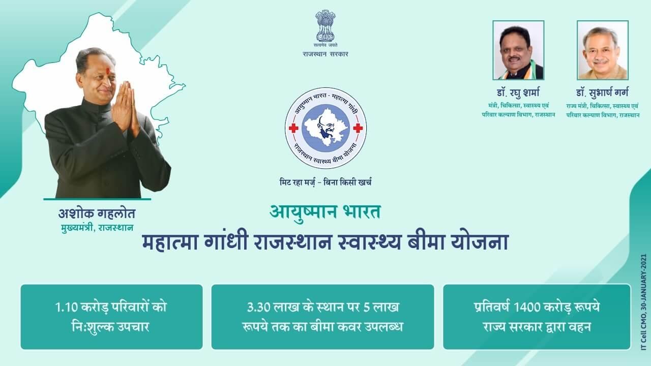 आयुष्मान भारत महात्मा गांधी राजस्थान स्वास्थ्य बीमा योजना के नवीन चरण का शुभारम्भ