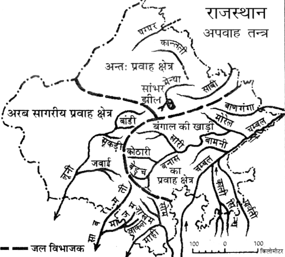 जिलानुसार राजस्थान की नदियां